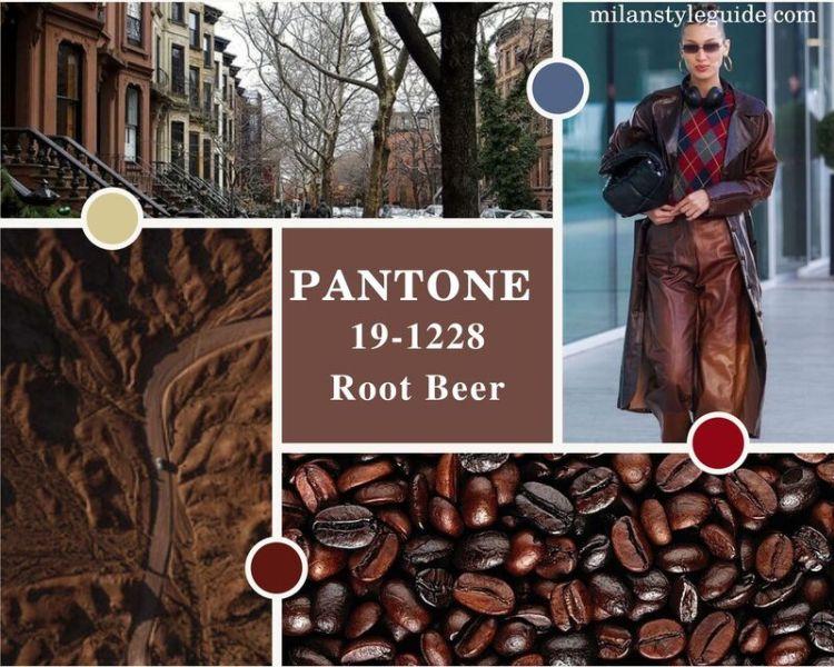 модный коричневый цвет осень зима 2021-2022