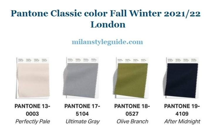 модные классические цвета Пантон осень зима 2021 2022