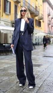 модные костюмы женские 2021 тренд щирокие брюки