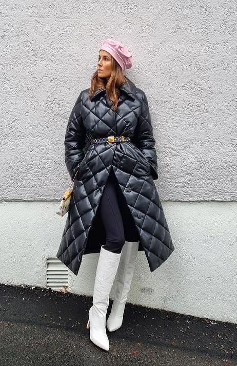 модное стеганое пальто 2021 тренды стритстайл