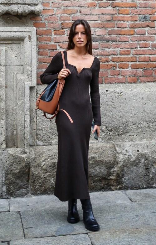 модные платья трикотаж 2021 стритстайл