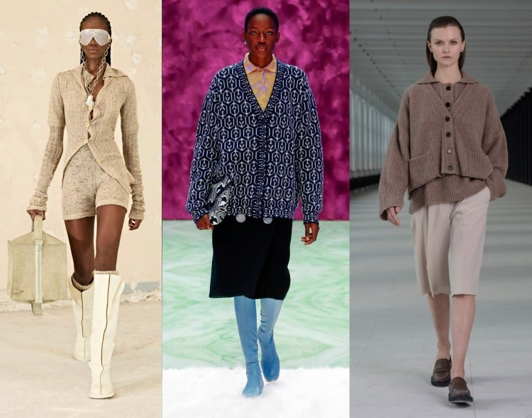 модные теренды осень зима 2021 2022 тренд кардиган