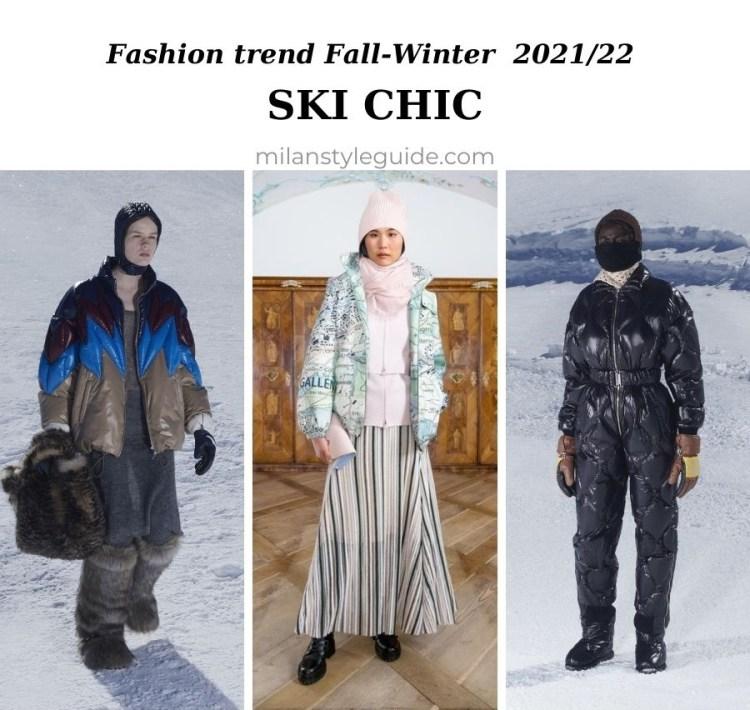 модный тренд осень зима 2021 2022 горы и горные лыжи альпы