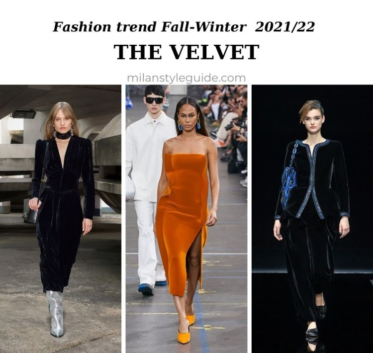 модный тренд осень зима 2021 2022 бархат