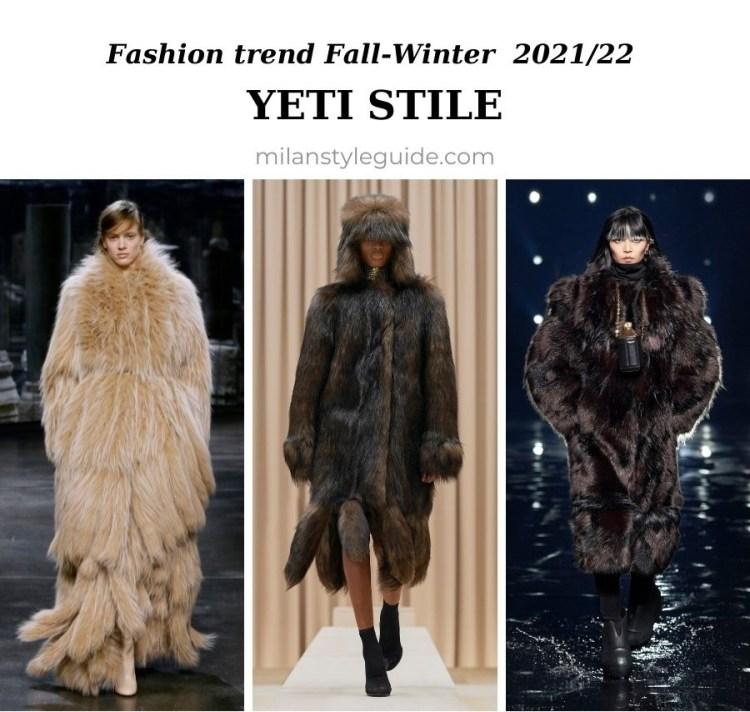 модный тренд осень зима 2021 2022 пушистые шубы, сапоги унты, и варежки