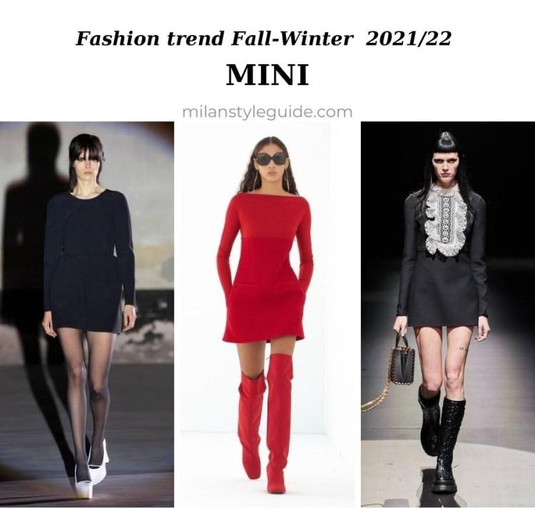 модные тенденции женской одежды осень зима 2021 2022 модный фасон мини