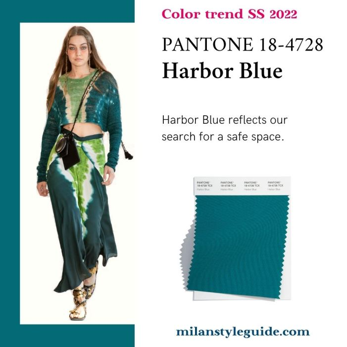 PANTONE 18-4728 Harbor Blue - Синяя гавань
