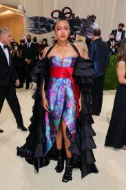 Naomi Osaka in Louis Vuitton at Met Gala 2021
