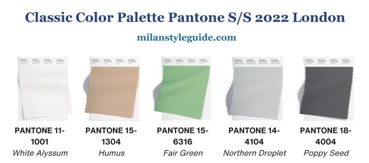 классическая авлитра нейтральных модных цветов Пантон весна лето 2022