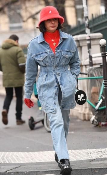 модные шапки осень зима 2021 весна 2022 тренд шляпа ведро street style