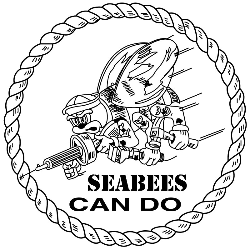 Navy Seabee Logos Clip Art Sketch Coloring Page