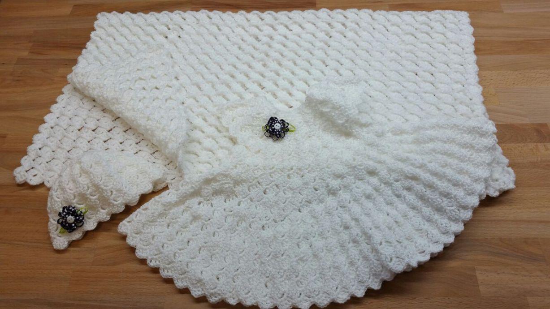 Cojunto Tejido Crochet Bebe Recien Nacido Milart Marroquin