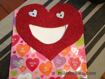 Valentine's cards bag