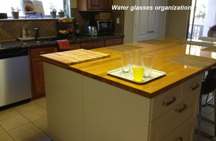 Water glasses organization