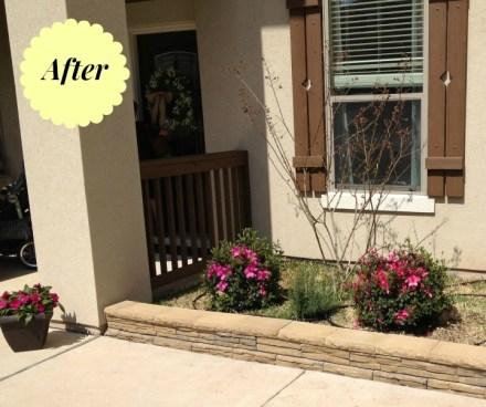 DIY landscaping, building a short wall enclosure