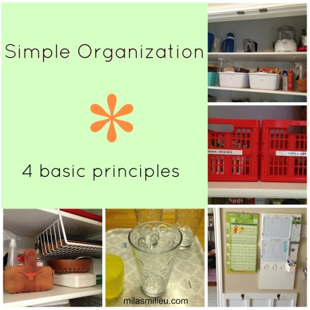 simple organization principles
