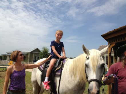 First time horse riding