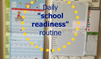 Get organized for Back to School: Daily school readiness routine.
