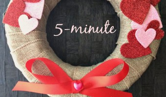 5-minute DIY Valentine's wreath
