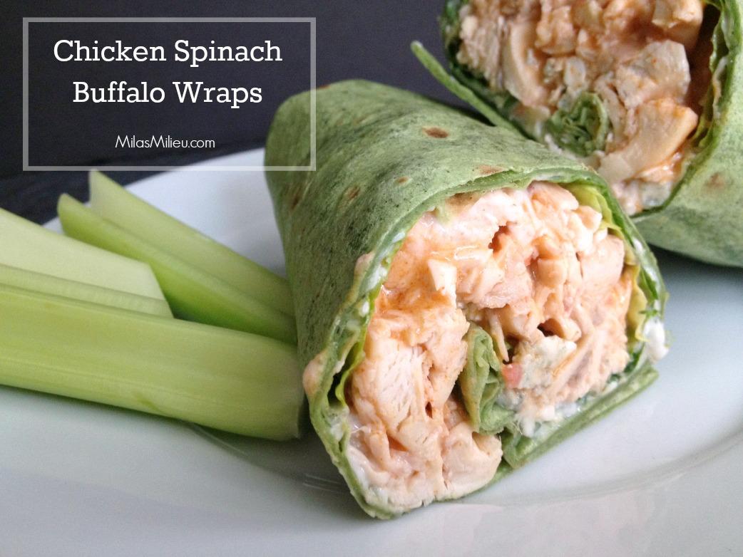 chicken spinach buffalo wraps