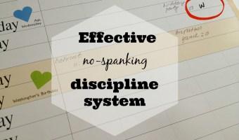 effective no-spanking discipline system