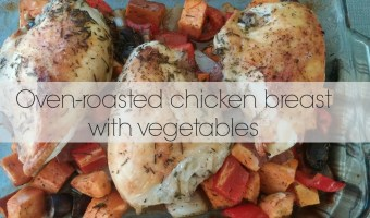 Oven-roasted chicken breast with vegetables