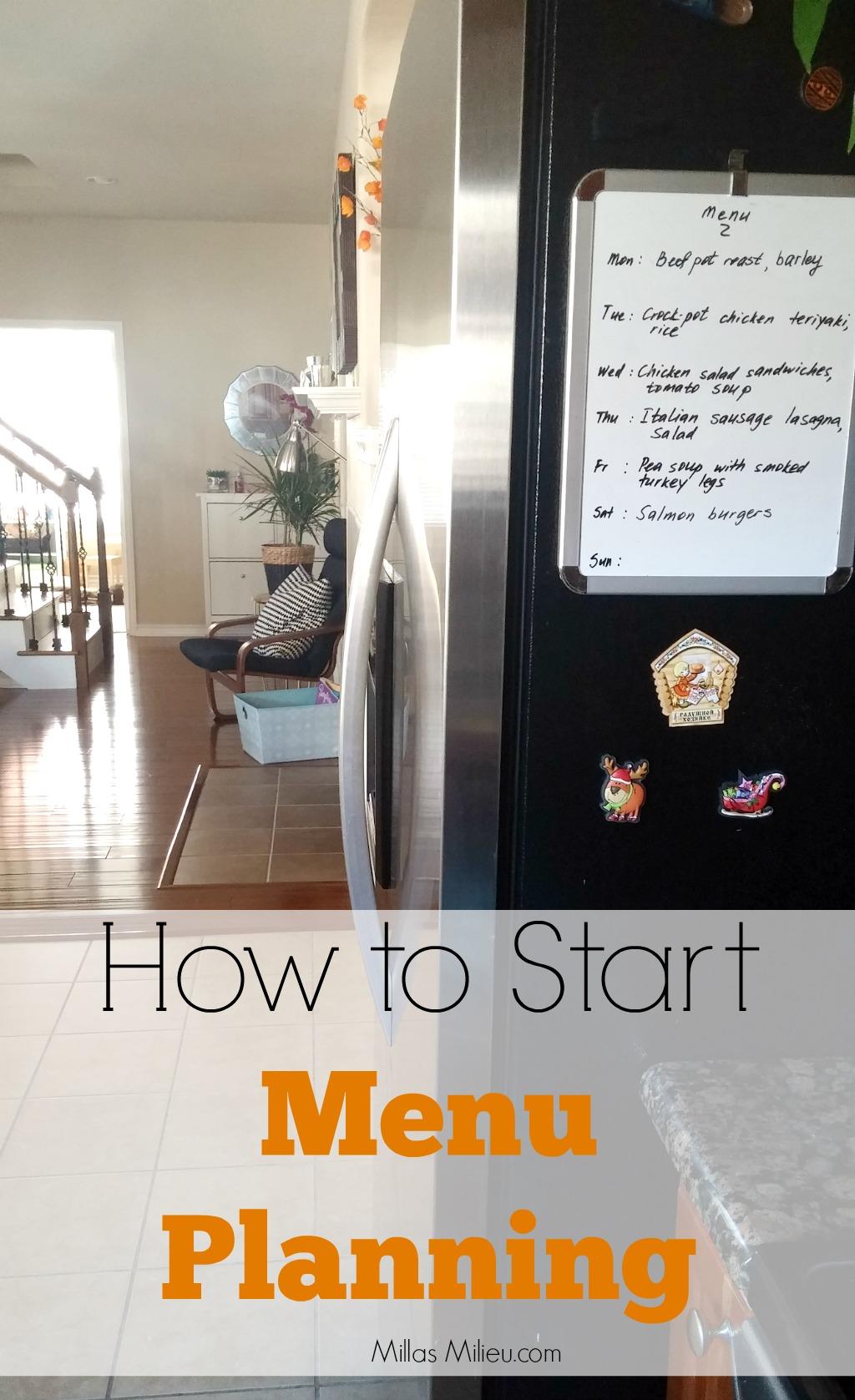 How to start menu planning