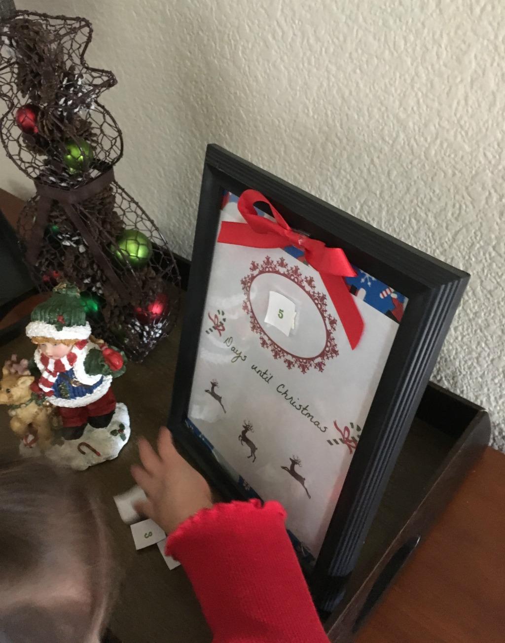Countdown to Christmas easy DIY