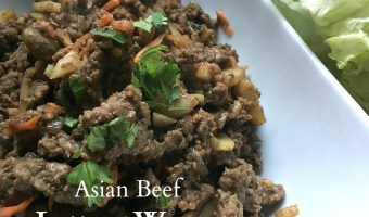 Low-carb Asian beef lettuce wraps with home-made sauce