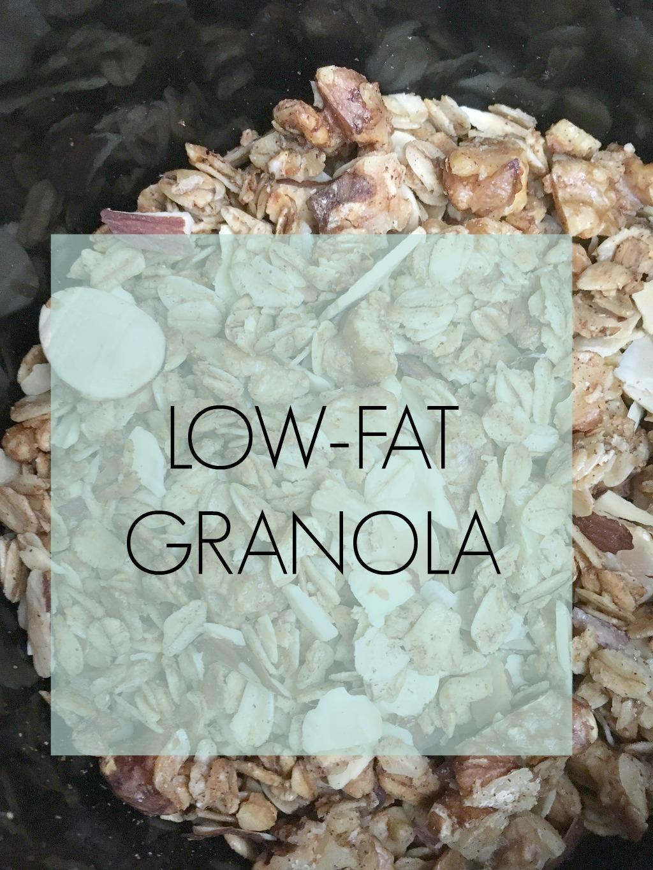 low-fat granola