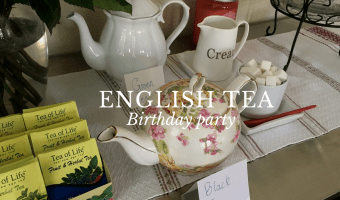 English tea birthday party.