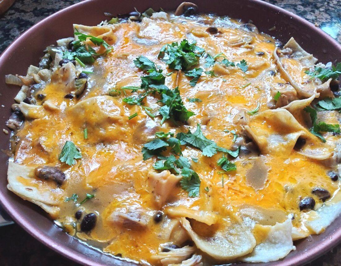 Quick chicken enchilada skillet