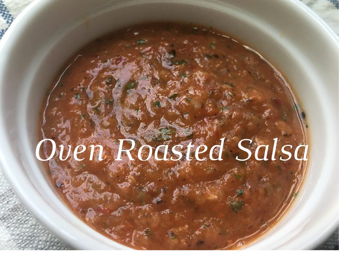 Oven roasted chipotle salsa