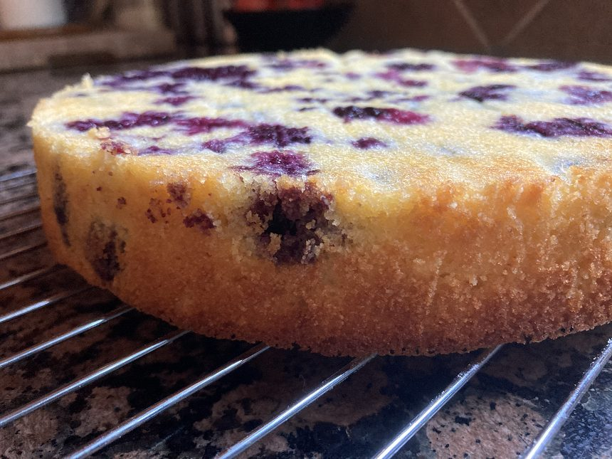 blueberry lemon cake with olive oil