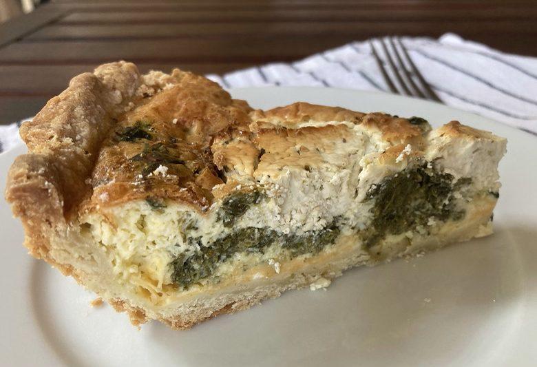 spinach goat cheese quiche