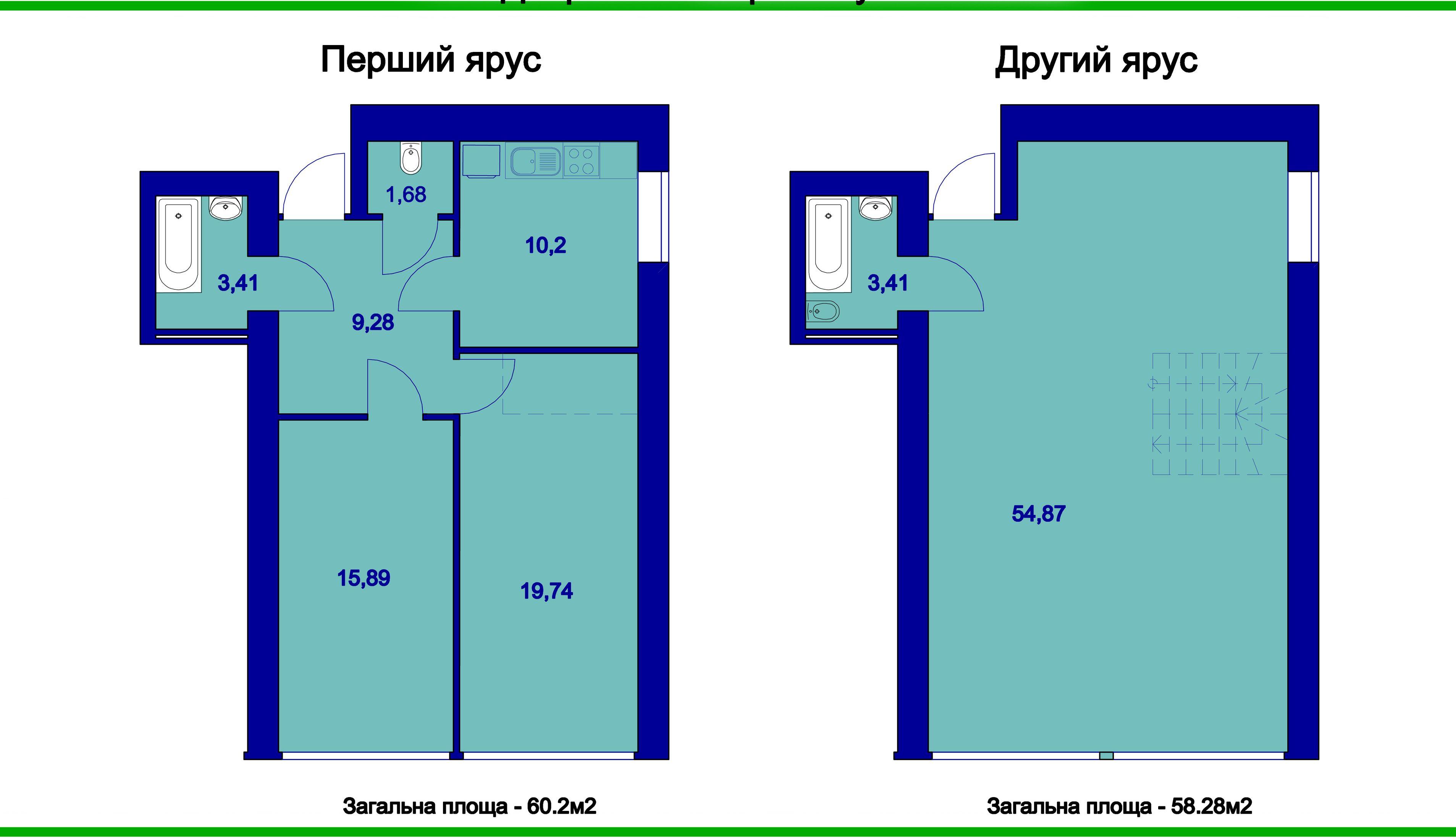 Двухъярусная квартира