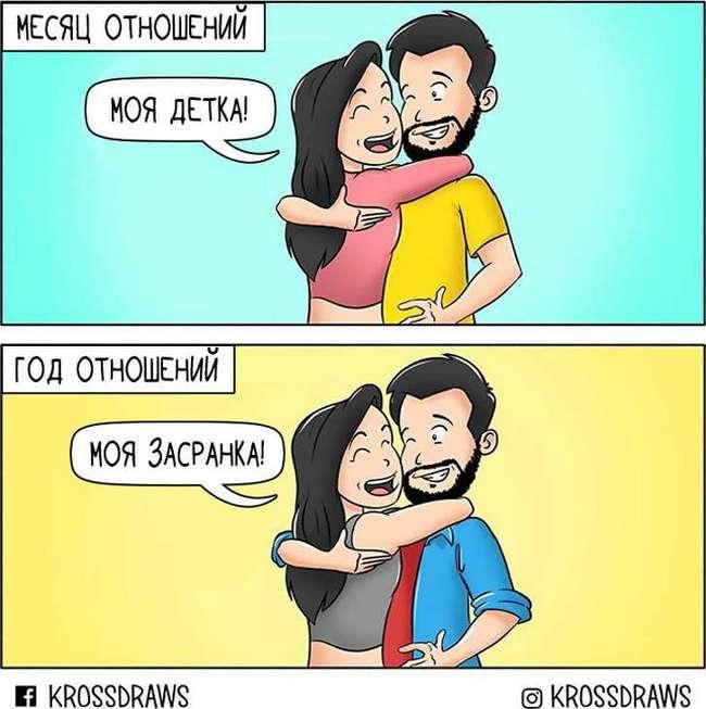 Индийский художник показал, как выглядят отношения сточки зрения парней (Спойлер: про разницу вросте— прямо вточку)