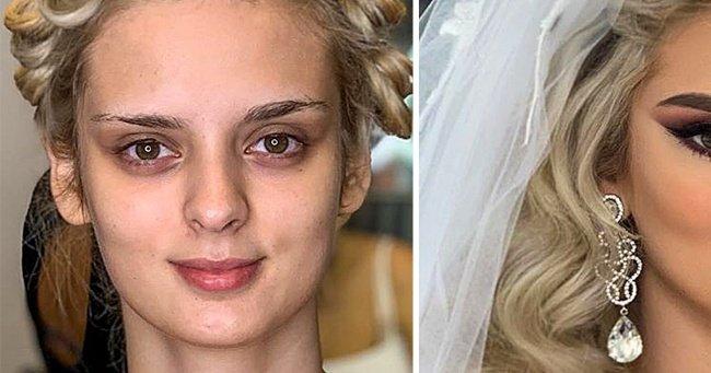 20+ работ албанского визажиста, которые показывают, насколько свадебный макияж может преобразить невесту