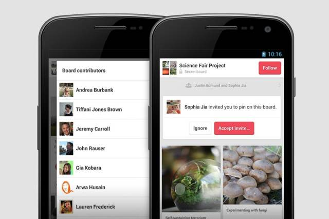 Pinterest for Android 1.3
