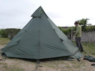 La nouvelle tente mess est prête pour la saison 2014 !