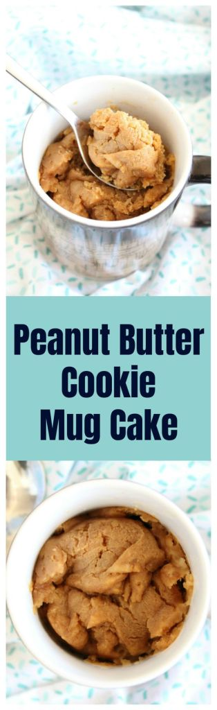 Peanut Butter Cookie Mug Cake – This mug cake takes just a few minutes and tastes just like a peanut butter cookie! Perfect for when you just want a single serving of a dessert! Mug Cake Recipe | Peanut Butter Mug Cake | Mug Cookie #cake #mugcake #cookie #dessert #easyrecipe #recipe