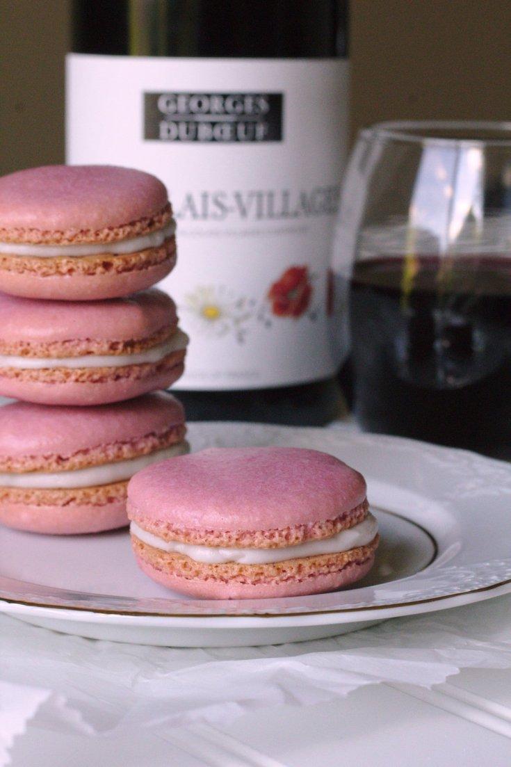 Red Wine Macarons