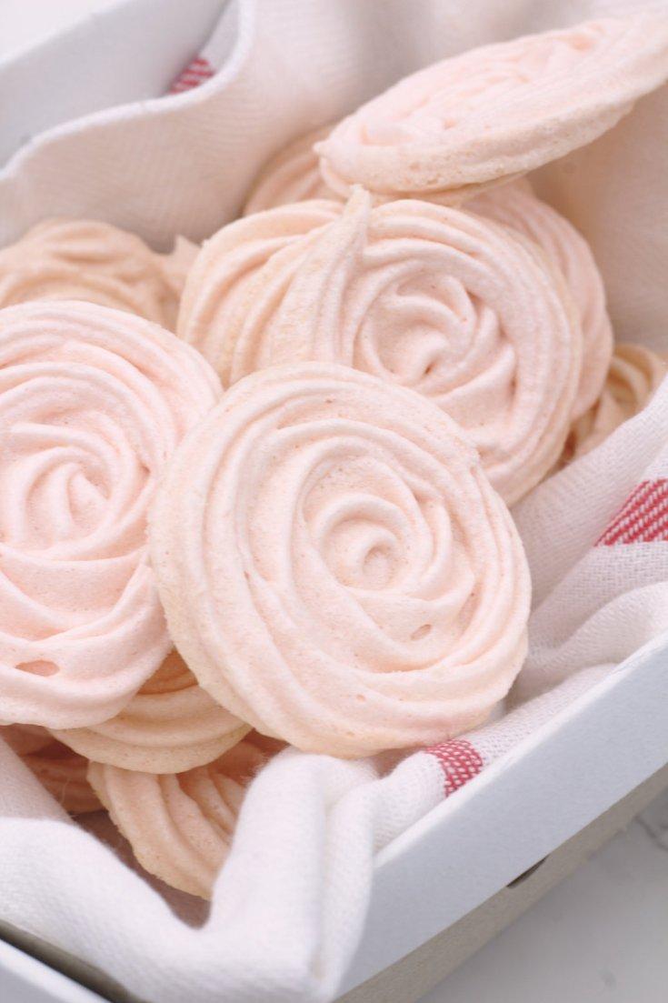 Rosé Meringue Cookies