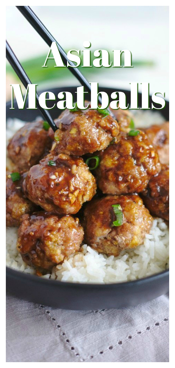 Asian Turkey Meatballs - A fantastic appetizer or meal ready in less than 30 minutes! Baked turkey meatballs covered in a delicious teriyaki sauce. These meatballs are perfect served over rice or noodles! Meatball Recipe | Turkey Meatball Recipe | Asian Meatballs #meatballs #appetizer #recipe #easyrecipe