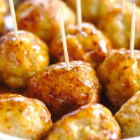 Honey Sriracha Chicken Meatballs