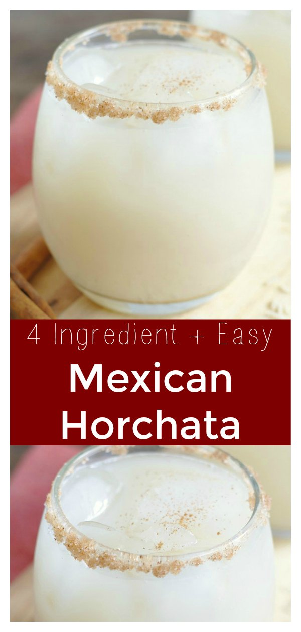 Mexican Horchata - A simple and refreshing Mexican drink that's perfect for a hot summer day! Rice and cinnamon soaked in water overnight and sweetened with sugar! Horchata Recipe | Mexican Horchata | Mexican Drink Recipe #drink #recipe #easyrecipe #horchata