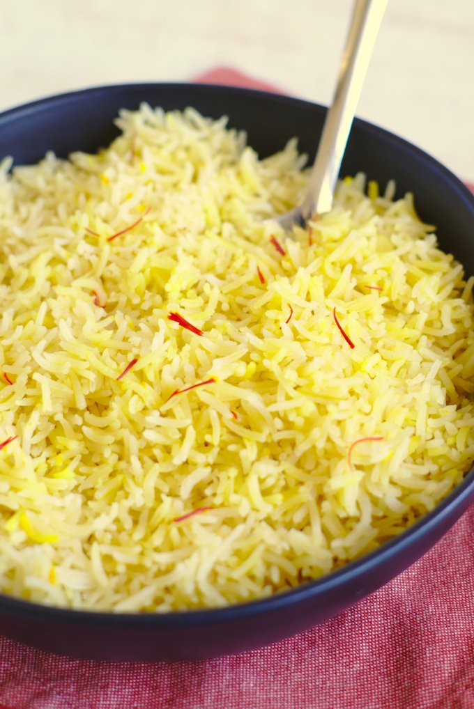 Saffron Rice Mildly Meandering