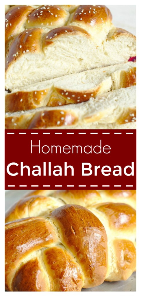 Challah Bread - A beautiful and impressive bread made with just 6 simple ingredients. This classic Jewish bread is great for sandwiches, french toast, and more! Homemade Bread Recipe | Challah Bread Recipe | Easy Bread #bread #challah #baking #recipe