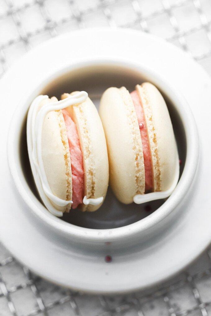 Homemade Strawberry Macarons