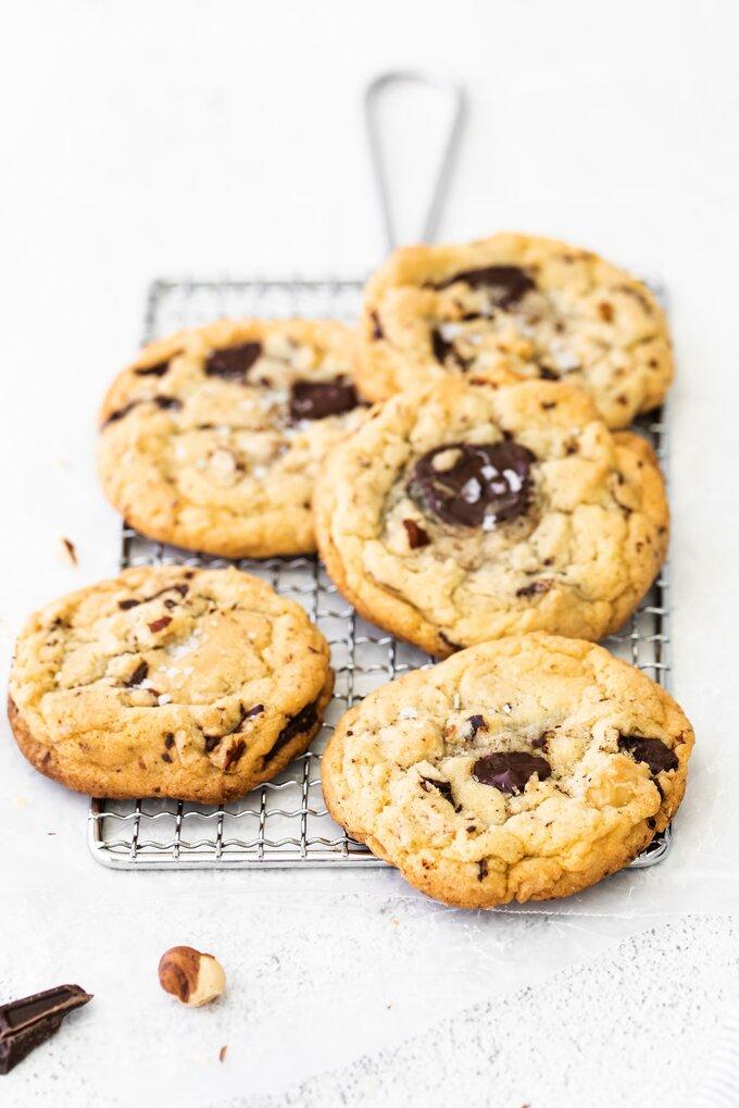 Dark Chocolate Hazelnut Cookies